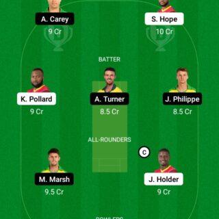 WI vs AUS 3rd ODI Match Dream11 Team fantasy Prediction Australia tour of West Indies