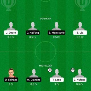 CHYT vs HBI Dream11 Team fantasy Prediction Chinese Super League
