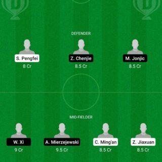 DLN vs SHN Dream11 Team fantasy Prediction Chinese Super League