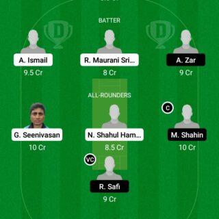 HSG vs GOC 39th Match Dream11 Team fantasy Prediction FanCode ECS T10 - Malmo