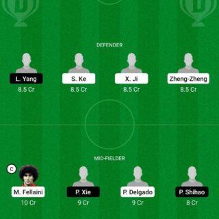 SHD vs CNGZ Dream11 Team fantasy Prediction Chinese Super League