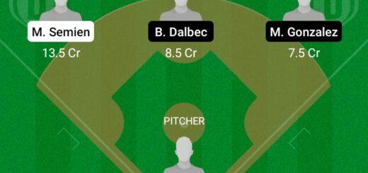 TOJ vs BRS Dream11 Team fantasy Prediction MLB