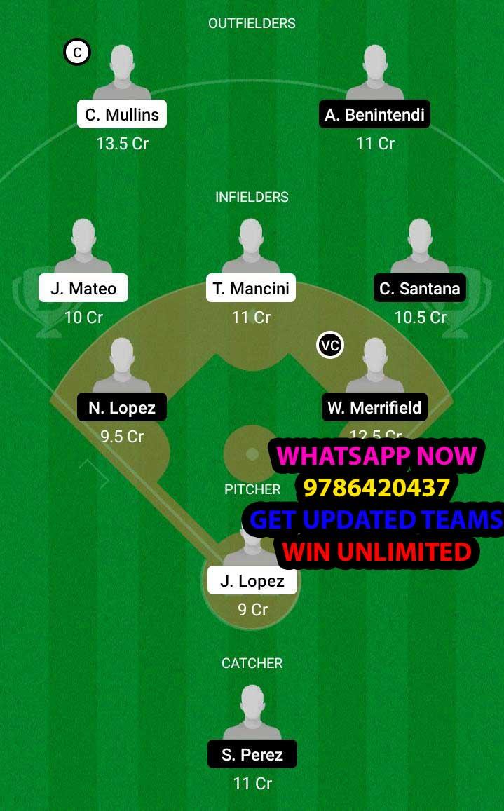 BAO vs KCR Dream11 Team fantasy Prediction MLB