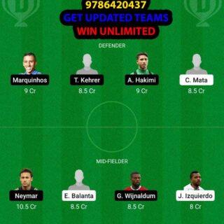 BRU vs PSG Dream11 Team fantasy Prediction Champions League