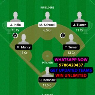 CR vs LAD Dream11 Team fantasy Prediction MLB (2)