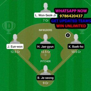 HAE vs KTW Dream11 Team fantasy Prediction KBO