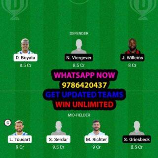 HER vs SGF Dream11 Team fantasy Prediction Bundesliga