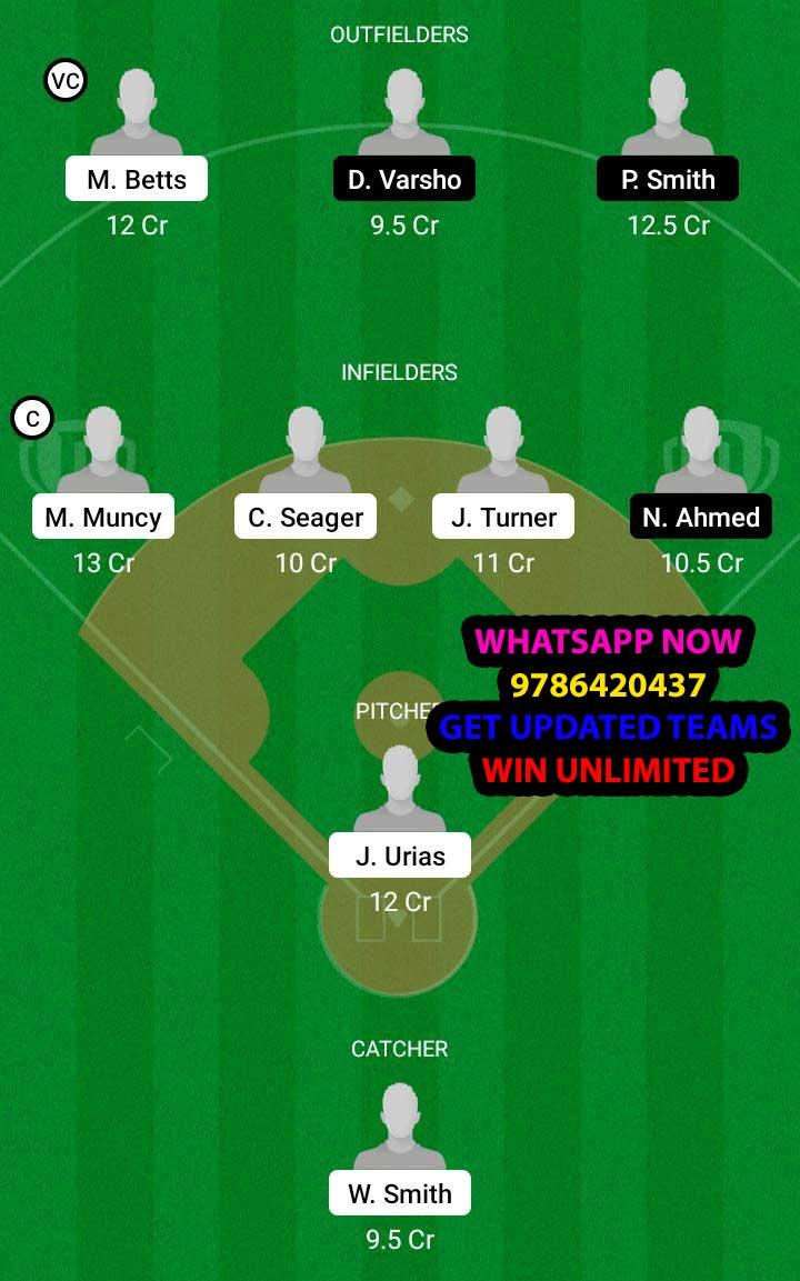 LAD vs AD Dream11 Team fantasy Prediction MLB