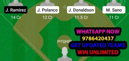 MIT vs CLE Dream11 Team fantasy Prediction MLB