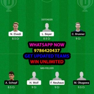 MOB vs BIE Dream11 Team fantasy Prediction Bundesliga