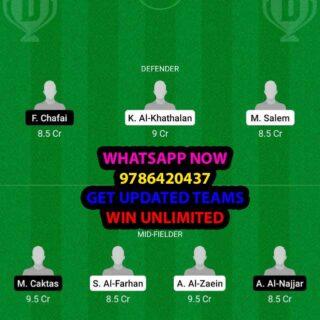 RAE vs DAM Dream11 Team fantasy Prediction Saudi Arabian League