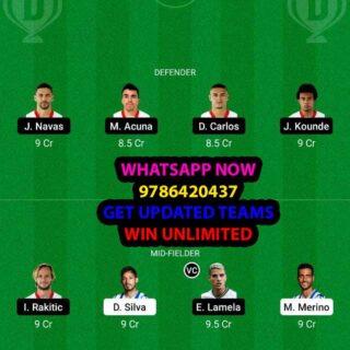 RS vs SEV Dream11 Team fantasy Prediction LaLiga Santander