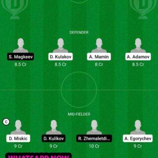 URY vs LOK Dream11 Team fantasy Prediction Russian Premier League