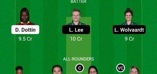 WI-W vs SA-W 3rd ODI Match Dream11 Team fantasy Prediction South Africa Women tour of West Indies
