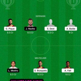 BAR vs RM Dream11 Team fantasy Prediction LaLiga Santander