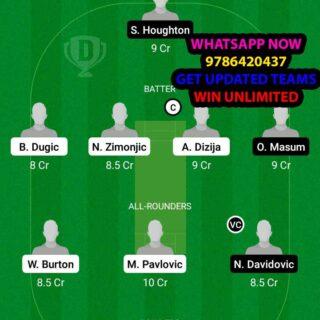 BEL vs SOS 19th Match Dream11 Team fantasy Prediction FanCode ECS T10 - Croatia