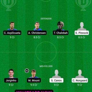 BRE vs CHE Dream11 Team fantasy Prediction Premier League