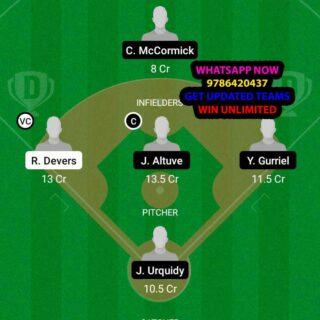 BRS vs HAS Dream11 Team fantasy Prediction MLB
