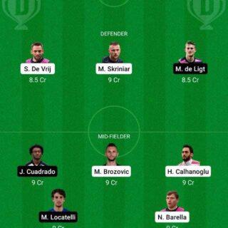 INT vs JUV Dream11 Team fantasy Prediction Serie A