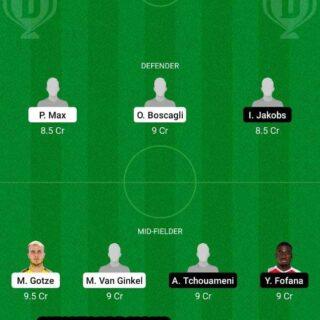PSV vs MON Dream11 Team fantasy Prediction Europa League