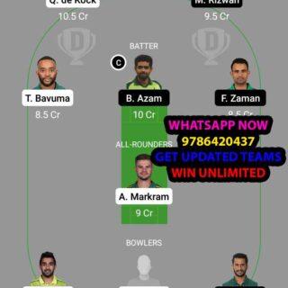 SA vs PAK 16th Match Dream11 Team fantasy Prediction World Cup T20 Warm up