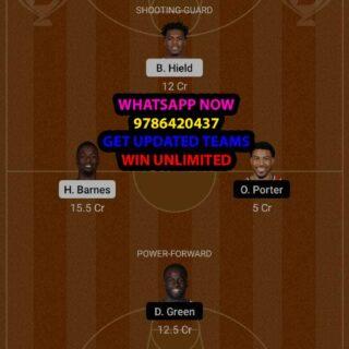 SAC vs GSW Dream11 Team fantasy Prediction NBA