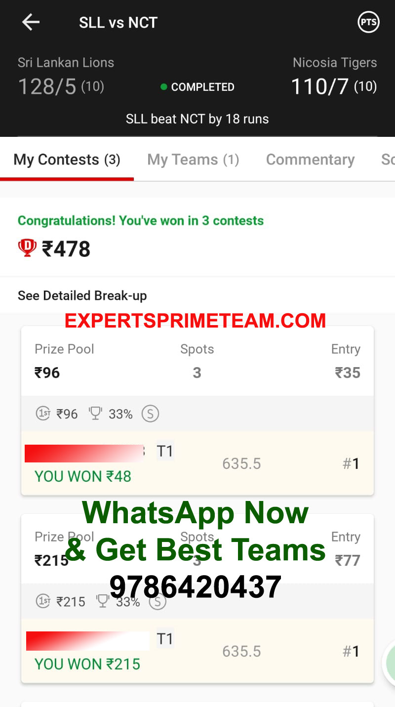 SLL-VS-NCT-Dream11-Results-